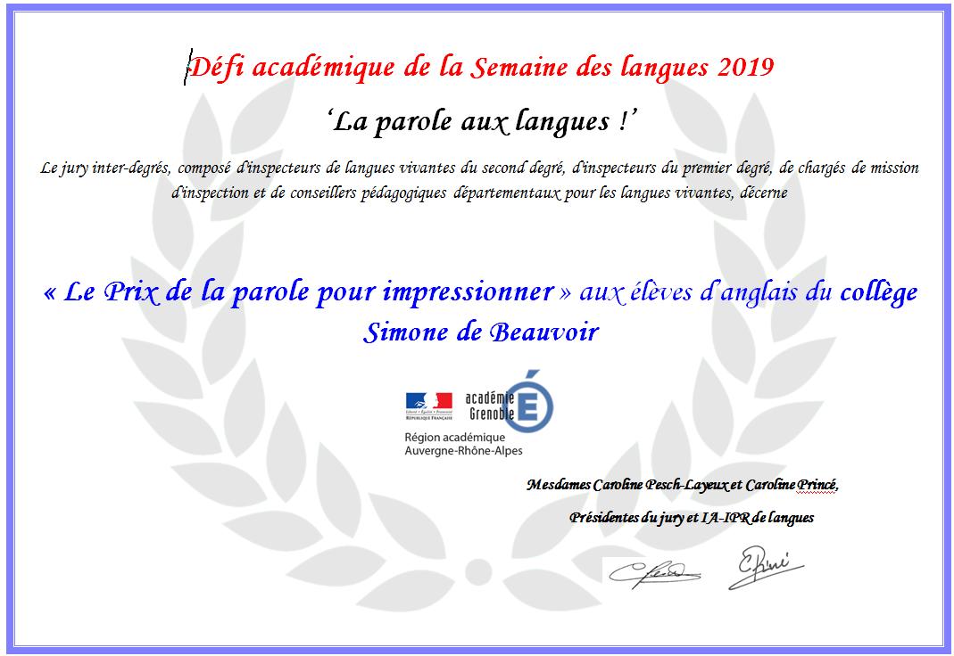 prix semaine langues 2019